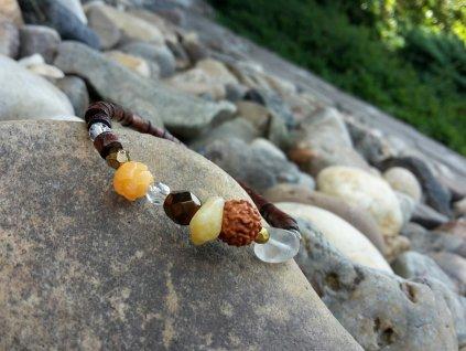 Chapoutier 1 Náramek (dřevo, minerály,sklo)1