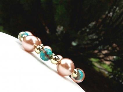Monet 2 Náramek (variscit, voskové perly)1