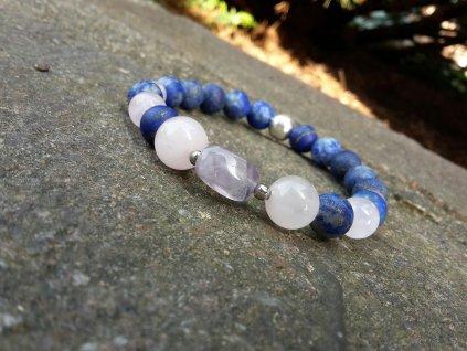 Yoko 2 Náramek (ametyst,růženín,lapis lazuli)1