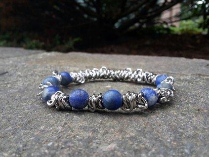 Sasha Unisex náramek (ocel, Lapis lazuli)