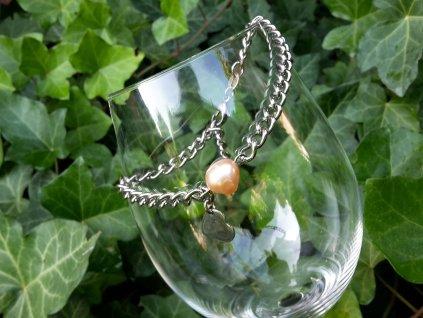 Yoe Náramek (ocel a sladkovodní perla)1