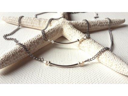257 souprava romance ocel stribro perly