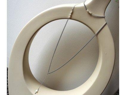 260 souprava morska romance ocel stribro perly