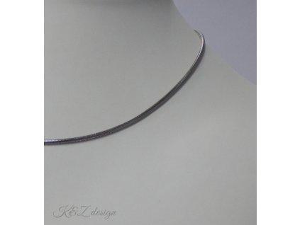 Hadí nerezový řetízek délka 45 cm, průměr 1,9 mm