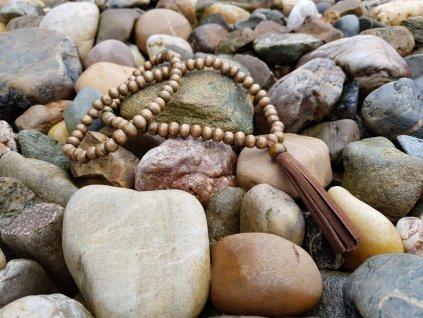 Salwa Náhrdelník (dřevo, eko kůže)1
