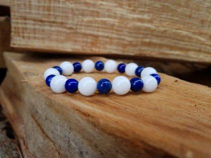 Bubbles Náramek (jadeit a lapis lazuli)1