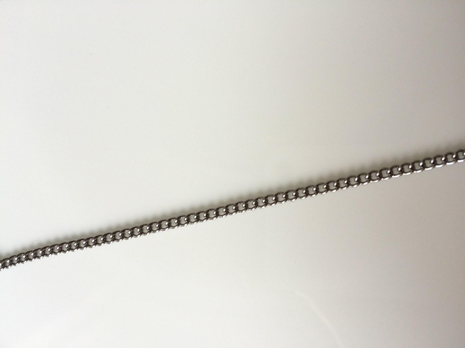 Řetízek z nerezové oceli délka 50 cm, šíře 2 mm