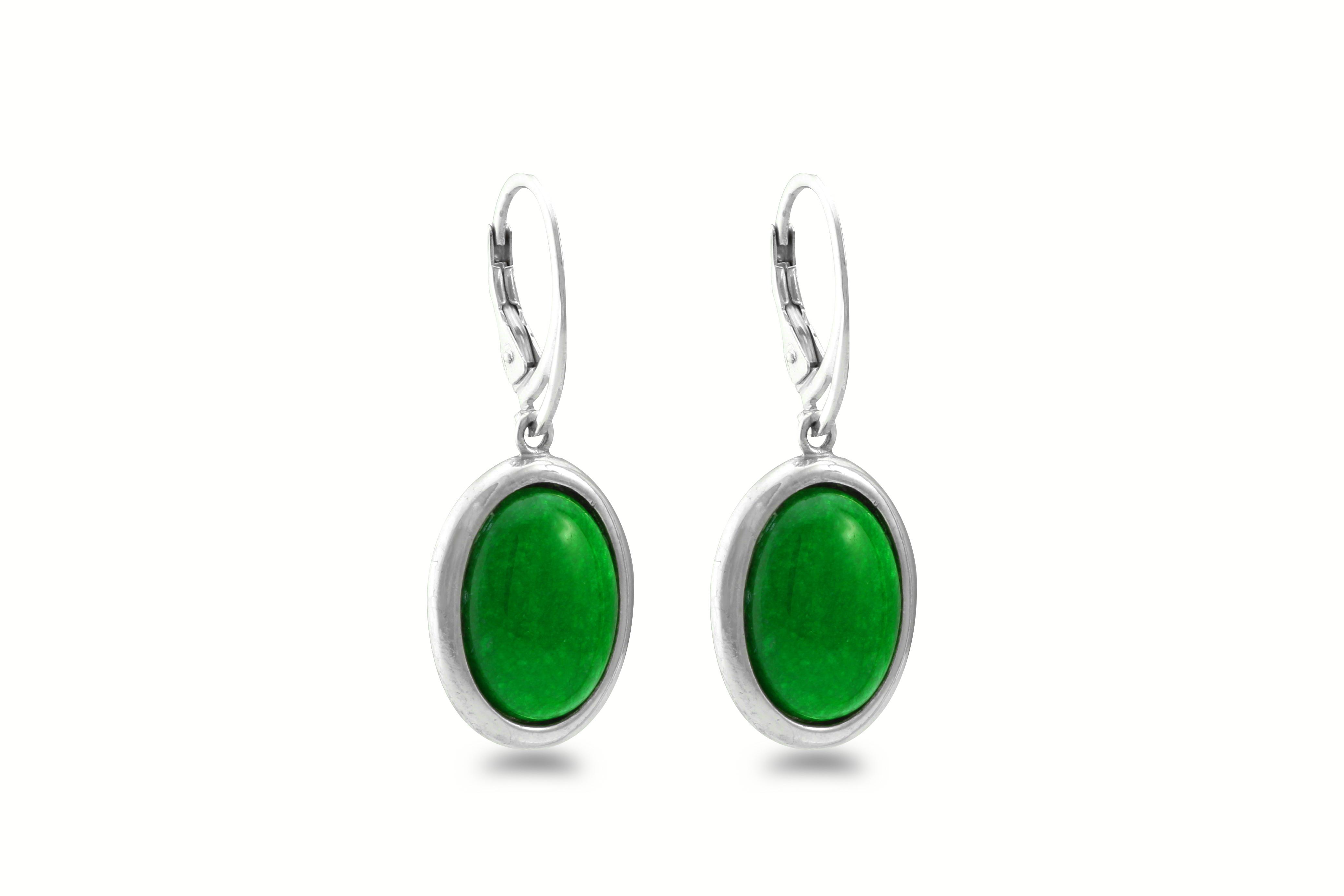 Smaragdově zelené náušnice 850
