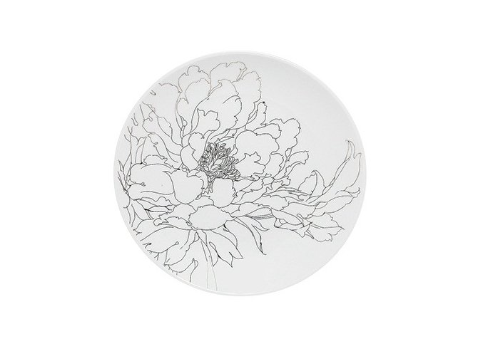 Sada 6 dezertních talířů Flower