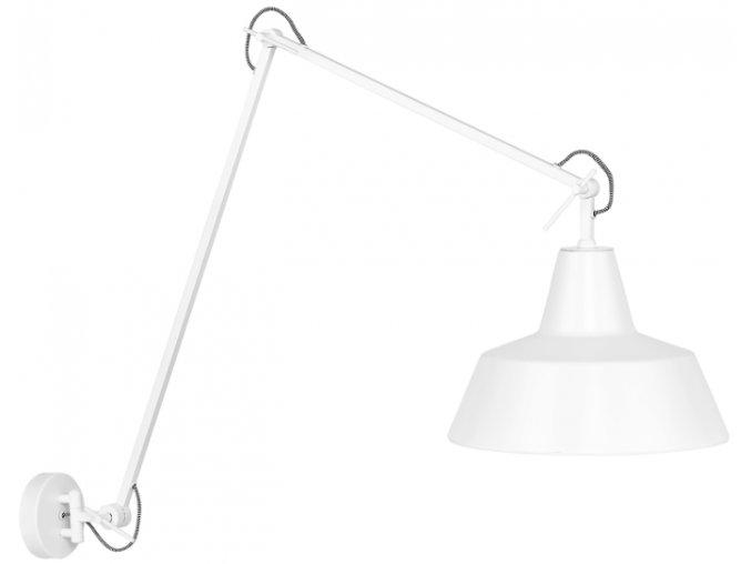 Nástěnná lampa Chicago bílá