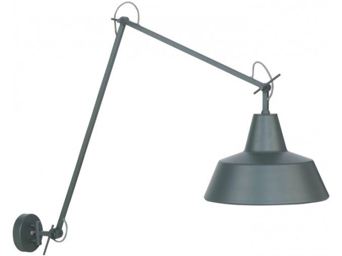 Nástěnná lampa Chicago šedozelená