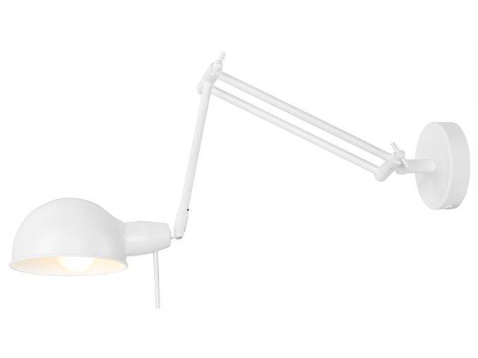 Nástěnná lampa Glasgow bílá