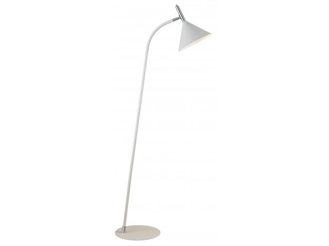 Stojací lampa Nysø bílá, stříbrná