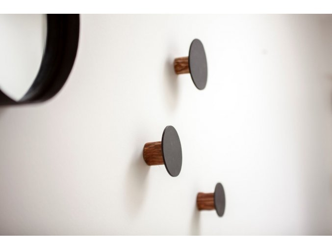 OOhh věšák Wall Knob Black 3 ks 3