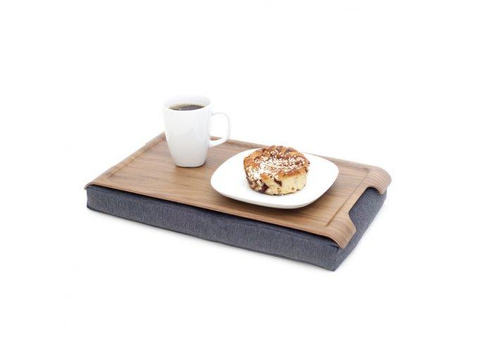 Mini protiskluzová dřevěná podložka Bosign Walnut & Salt & Pepper Gray
