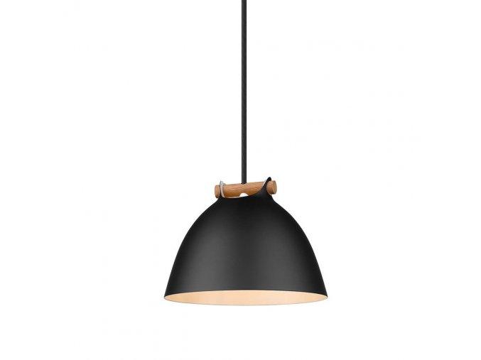 Stropní lampa Århus černá/přírodní