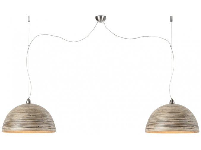 Lampa Halong přírodní dvojmontáž