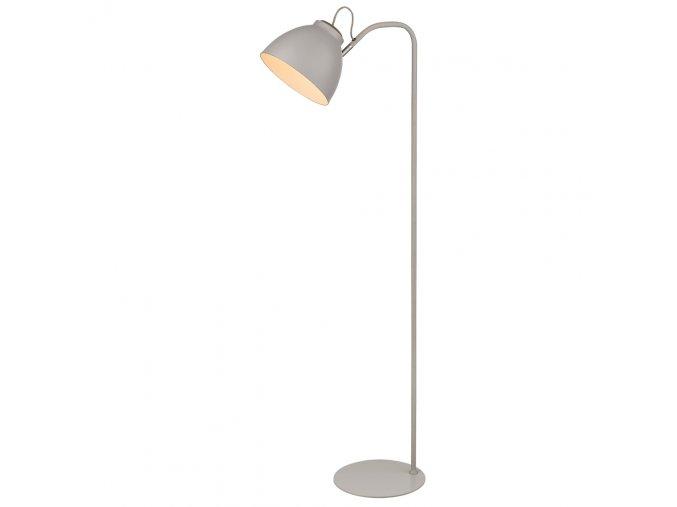 Stojací lampa Nivå šedá/přírodní