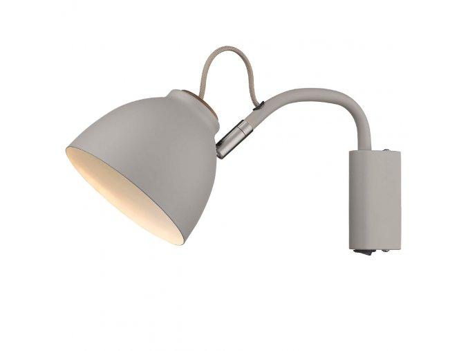 Nástěnná lampa Nivå šedá/přírodní