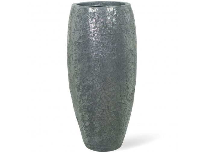 Crackle květináč Aluminium