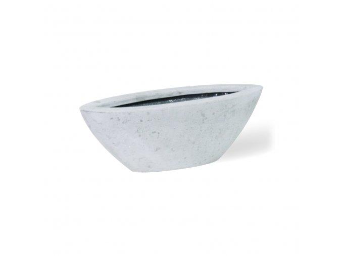 Boat květináč šedý beton