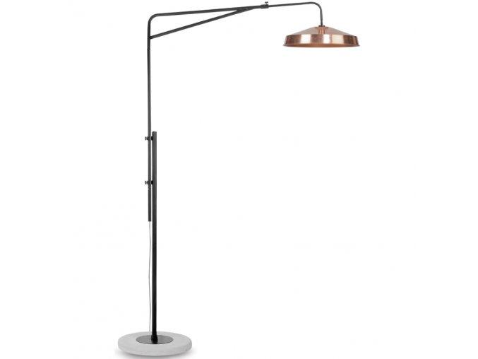 Stojací lampa Brighton měděná