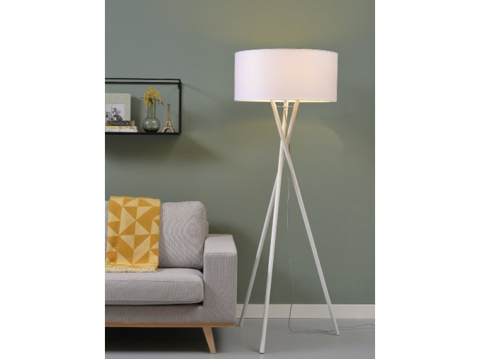 Stojací lampa Hampton bílá 6030