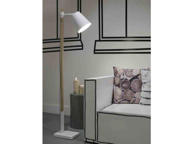 Stojací lampa Sydney bílá