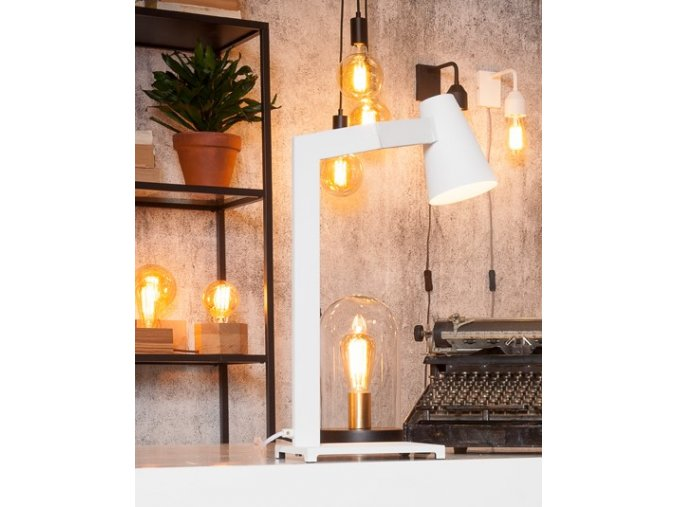 Stolní lampa Biarritz bílá
