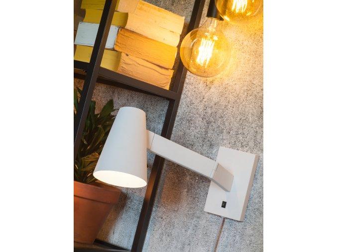 Nástěnná lampa Biarritz bílá