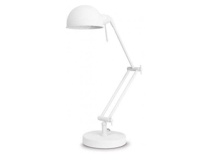 Stolní lampa Glasgow bílá