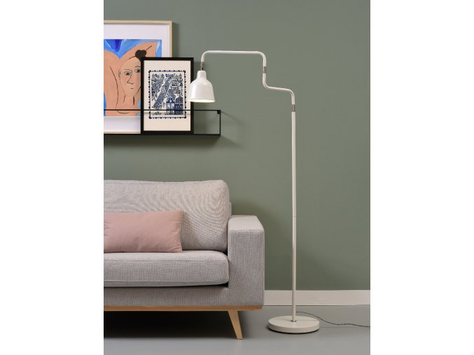 Stojací lampa London bílá