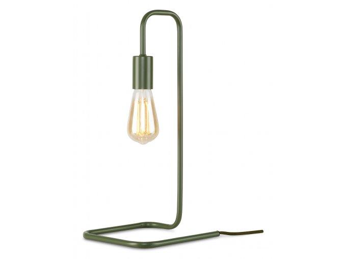 Stolní lampa London olivově zelená