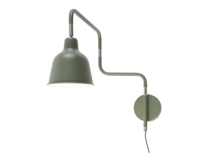 Nástěnná lampa London olivově zelená