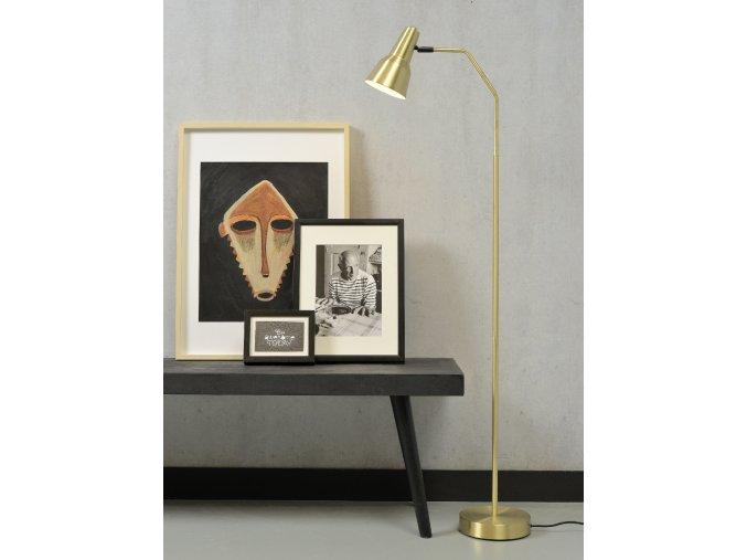 Stojací lampa Valencia zlatá