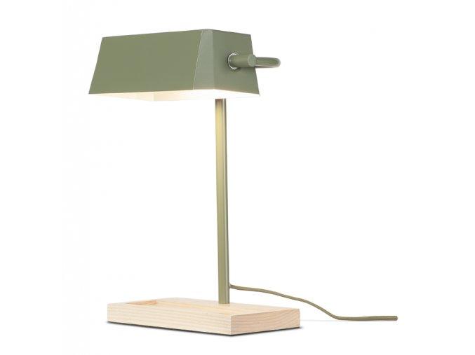 Stolní lampa Cambridge olivově zelená
