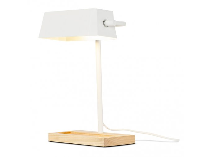 Stolní lampa Cambridge bílá