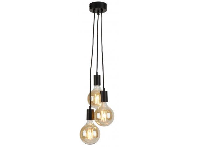Stropní lampa Oslo 3 světla černá