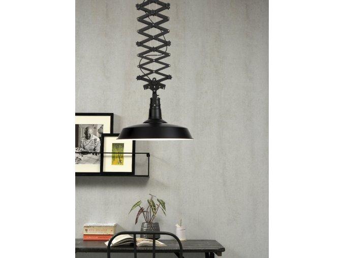 Stropní lampa Vancouver černá