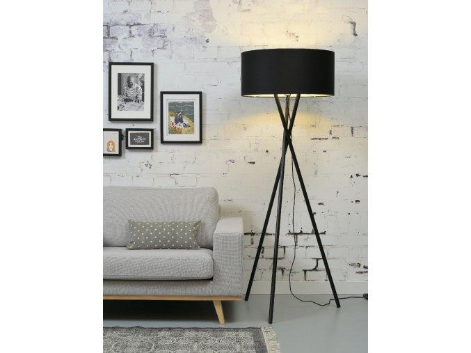 Stojací lampa Hampton černá 6030