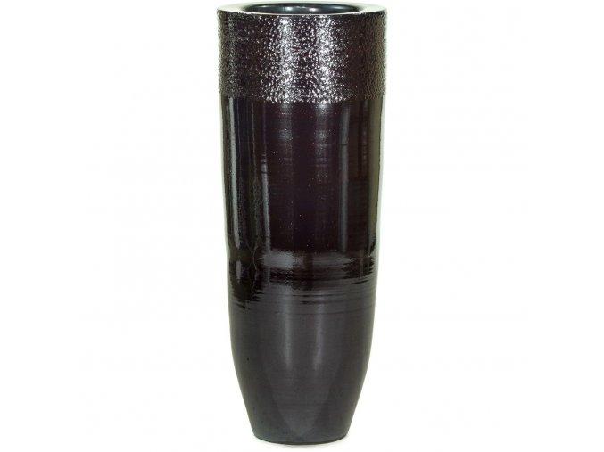 Glaze květináč Platin Black