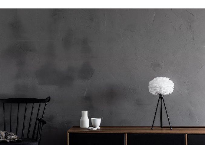 2091 Eos micro white black tripod table sideboard environment