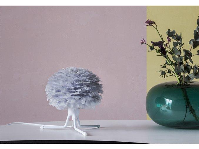 2123 Eos micro light grey tripod base white green vase environment