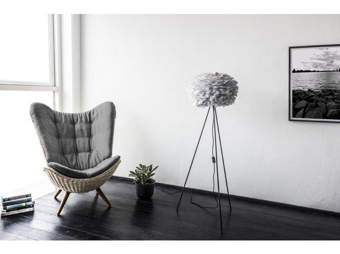 2085 Eos medium light grey tripod floor black reading chair environment