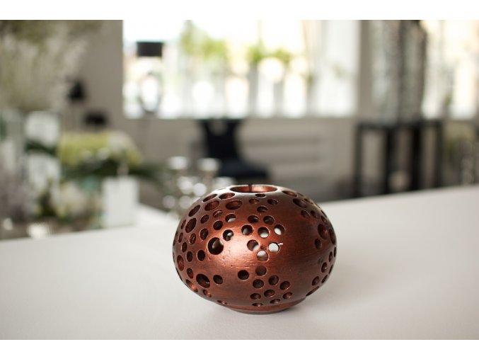 Svícen na čajové svíčky Terracotta