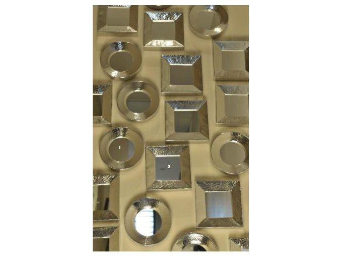 Tepané zrcadlo čtvercové 17,5x17,5cm