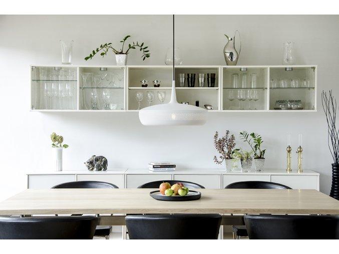 2076 Clava Dine matt white black cord dinner environment