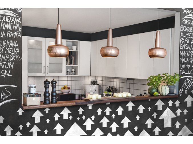 2050 Clava brushed copper black cord kitchen environment