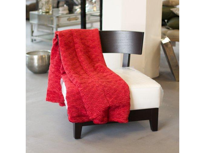 Červená pokrývka 140x180