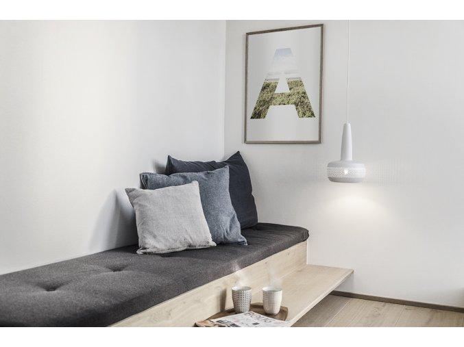 2051 Clava matt white white cord lounge environment